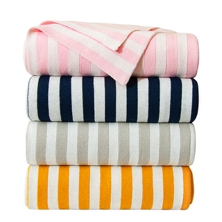 """Link to NTBAY Soft Hypoallergenic Cotton Cable Knit Baby Blanket, Warm and Cozy Travel Blanket-Stripe and Diamond Pattern (30"""" x 40"""") Similar Items in Baby Blankets"""