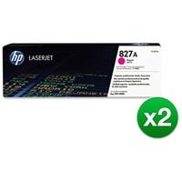 HP 827A Magenta Original LaserJet Toner Cartridge (CF303A)(2-Pack)