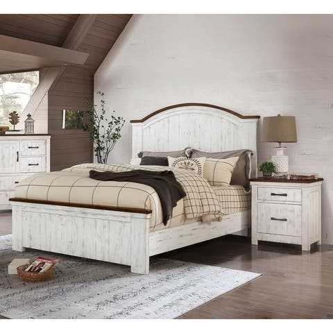 Furniture of America Ynez Transitional White 2-piece Bedroom Set