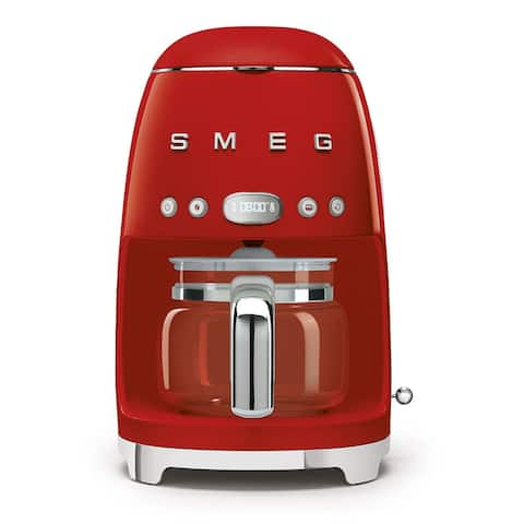 Smeg 50's Retro Style Aesthetic Drip Coffee Machine, Red