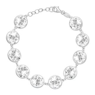 Crystaluxe Bracelet with Swarovski Crystals in Sterling Silver - White