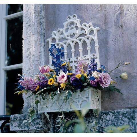 Design Toscano Cast Iron Gothic Revival Flower Box