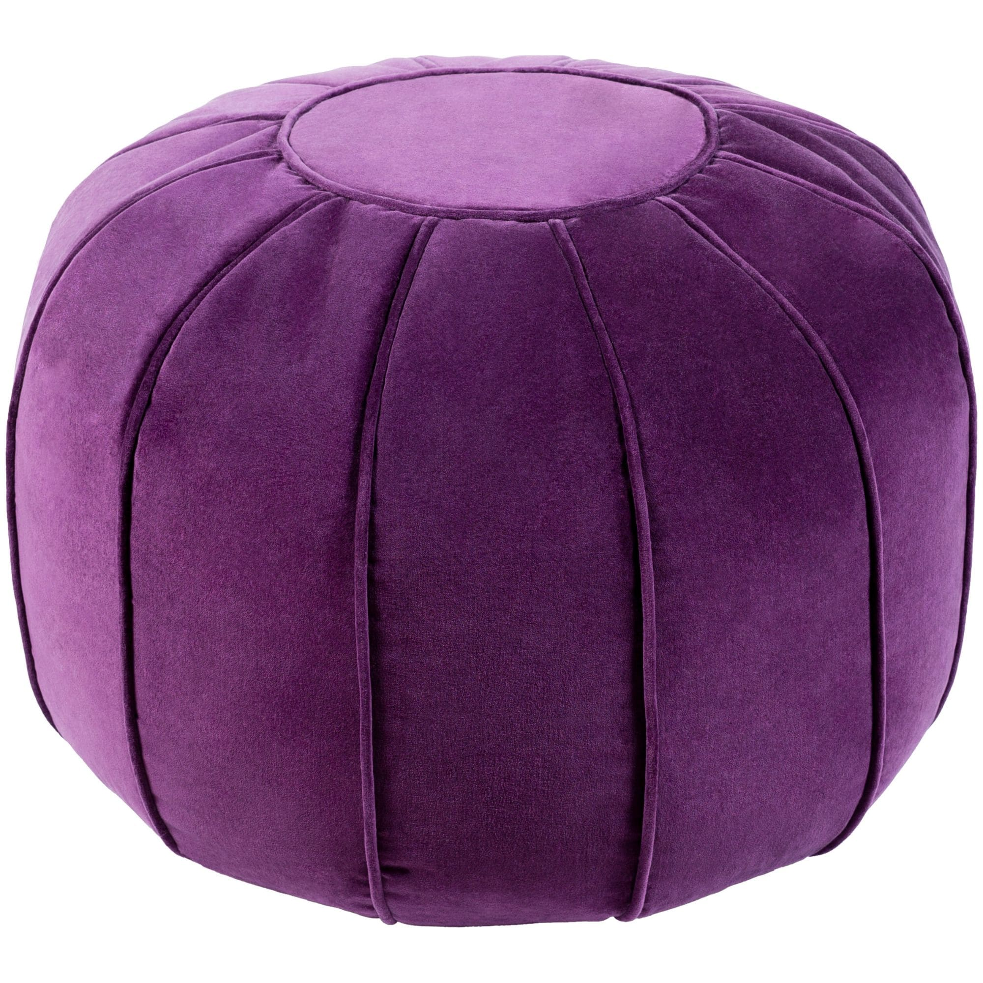 Cool 20 Purple Spherical Shaped Flange Pouf Ottoman N A Uwap Interior Chair Design Uwaporg