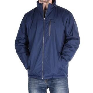 High Collar Reversible Blue Waist Coat