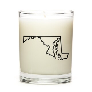State Outline Candle, Premium Soy Wax, Maryland, Fresh Linen