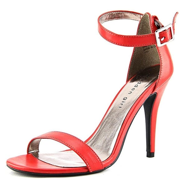 Madden Girl Womens DAFNEY Leather Open Toe Special Occasion Ankle Strap Sandals