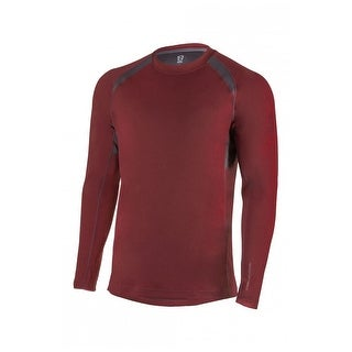 Noble Outfitters Shirt Mens L/S Athletic Fit Kinetic Crew Mesh 11503