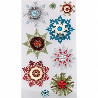 Jolees E5050617 Jolee s Christmas Stickers-Embellished Snowflakes