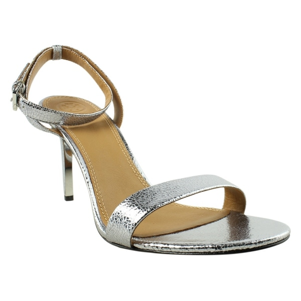 be38037de30b3 Shop Tory Burch Womens Elana Gray Ankle Strap Heels Size 9.5 - Free ...