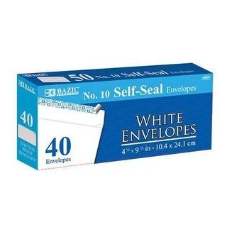 Bazic 5067 #10 Self-Seal White Envelope (40/Pack) Case of 24