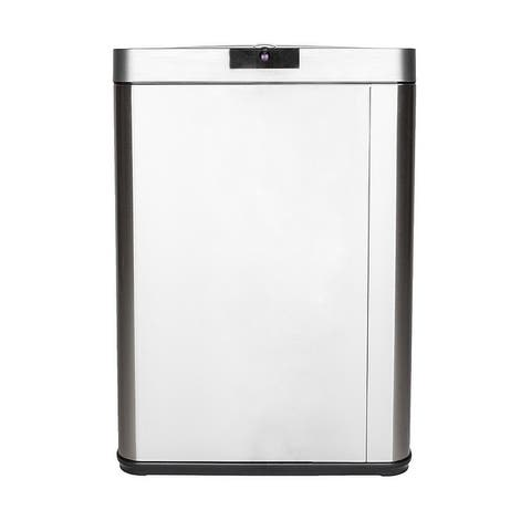 13 Gallon Stainless Steel Trash Can Touchless Sensor Garbage Bin with Lid