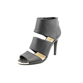Jessica Simpson Elsbeth Peep Toe Leather Heels
