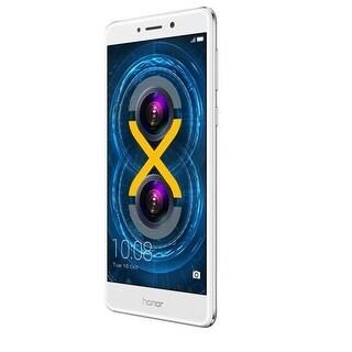Huawei Phone 51091Brn Honor 6X - Silver 5.5 Inch 3Gb 32Gb Unlock Android 6.0