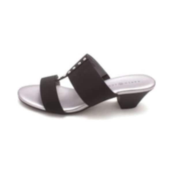 Karen Scott Womens Zana Fabric Open Toe Casual Slide Sandals - 5