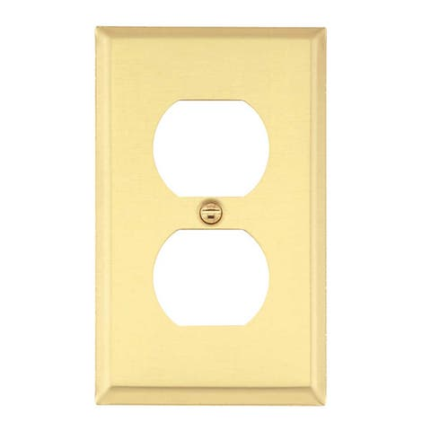 Solid Brass Switch Plate Single Gang Outlet Renovator's Supply