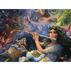 ''Enchanted Flute'' by Josephine Wall Fantasy Art Print (24 x 36 in.)