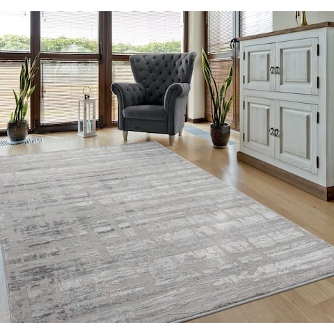 Porch & Den Richen Hi-low Abstract Stripe Area Rug