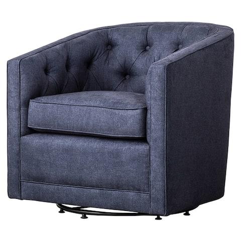 Walsh Fabric Swivel Barrel Chair