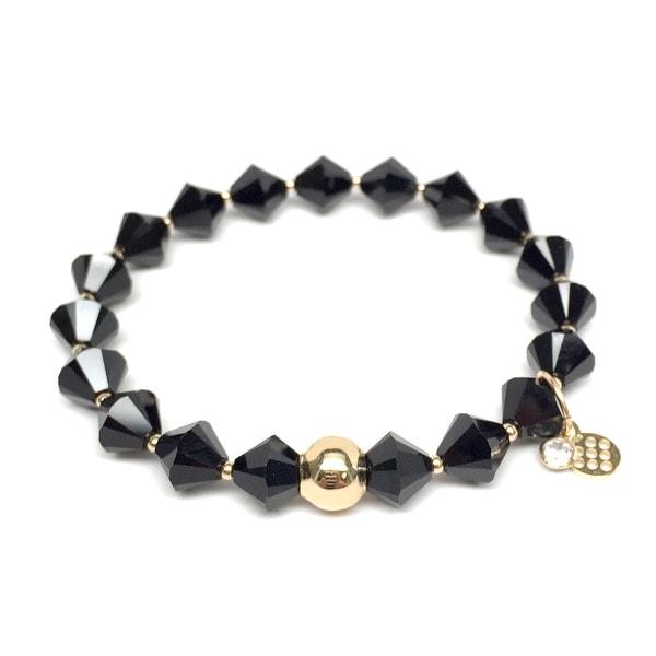 "Black Crystal Rachel 7"" Bracelet"