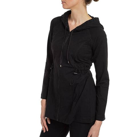 Spanx Ath-Leisure Contour Jacket Hooded Sweatshirt 1529 A230430