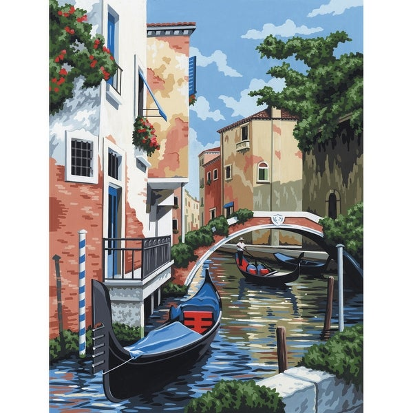 "Paint By Number Kit Artist Canvas Series 9""X12""-Venetian Scene"