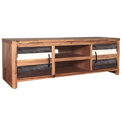 "vidaXL TV Cabinet Solid Acacia Wood 47.2""x13.8""x15.7"""