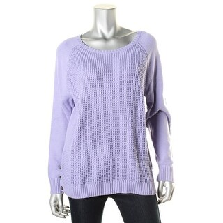 Karen Scott Womens Textured Casual Pullover Sweater
