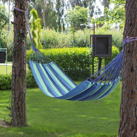 "78"" Outdoor Portable Polyester & Cotton Hammock 2 Colors"