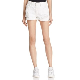 Guess Womens Denim Shorts Destroyed Boy Fit