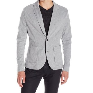 Kenneth Cole NEW Gray Mens Size Large L Knit Two Button Bonded Blazer