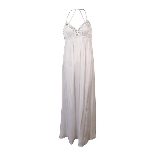 Shop Raviya Womens Knotted Trim Empire Halter Dress Cover Up On