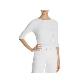 Vince Womens Pullover Top Ribbed Cropped - s