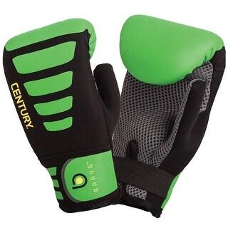 Century Youth Brave Neoprene Slip-On Boxing Bag Gloves - Black/Green