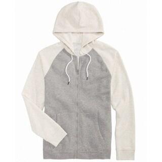 American Rag NEW White Ivory Gray Mens Size 2XL Full Zip Sweater