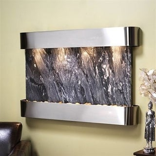 Adagio Sunrise Springs With Black Spider Marble in Stainless Steel Finish and Ro