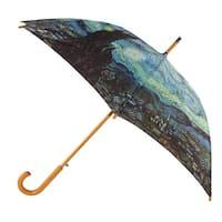 CTM® Starry Night Print Hook Stick Umbrella - One size
