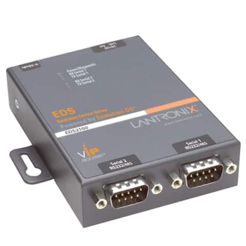 Lantronix ED2100002-01 Lantronix 2-Port Secure Serial (RS232/ RS422/ RS485) to IP Ethernet Device Server; Up to 256-bit AES