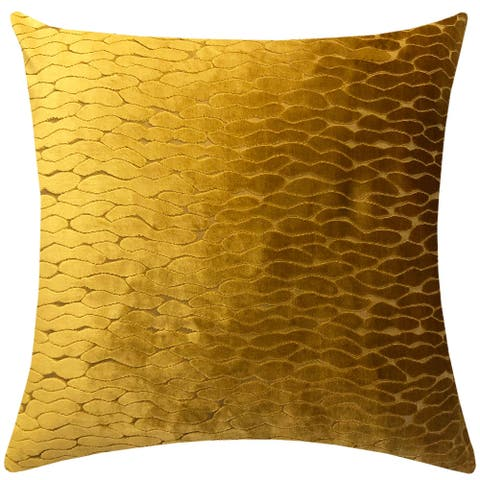 """Rodeo Home Costella All Over Velvet Wave Design Decorative Oversized Pillow 23""""H x 23""""W"""