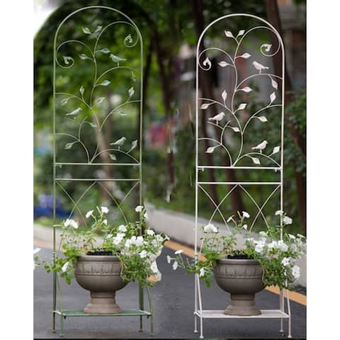 """72""""x20""""x12"""" Decoration Metal Flower Rack Stand For Patio And Garden"""