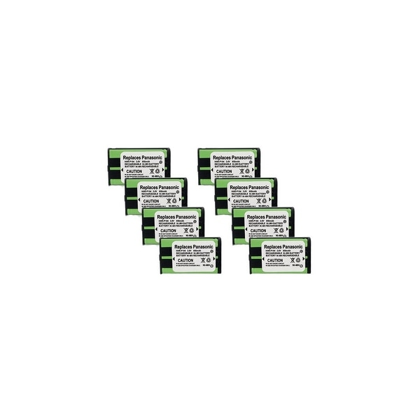 Replacement Battery For Panasonic KX-TGA542M Cordless Phones - P104 (850mAh, 3.6V, Ni-MH) - 8 Pack