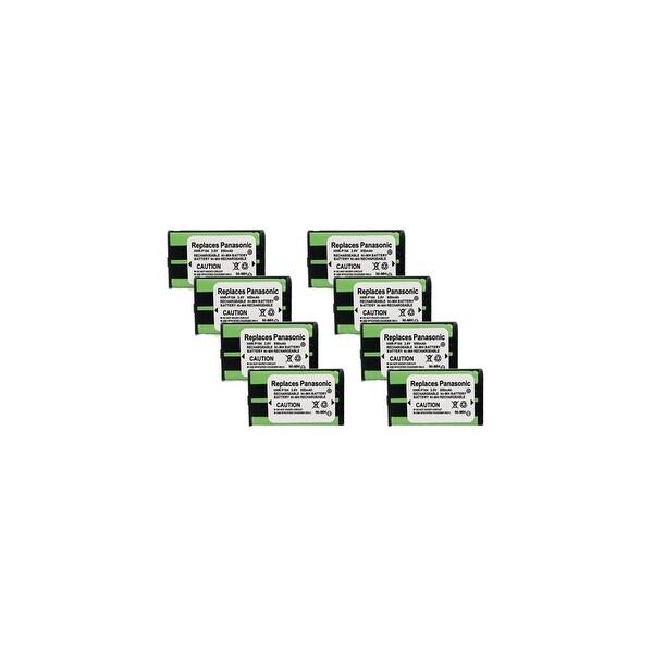Replacement Battery For Panasonic KX-TG5240 Cordless Phones - P104 (850mAh, 3.6V, Ni-MH) - 8 Pack