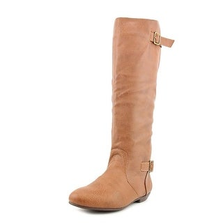 Chinese Laundry Next Shot Women Round Toe Synthetic Brown Knee High Boot