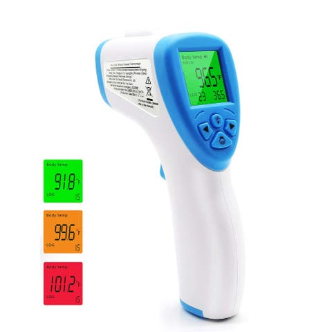 Infrared Thermometer, Non-Contact Forehead, Instant Readout Measurement (F/C) - White