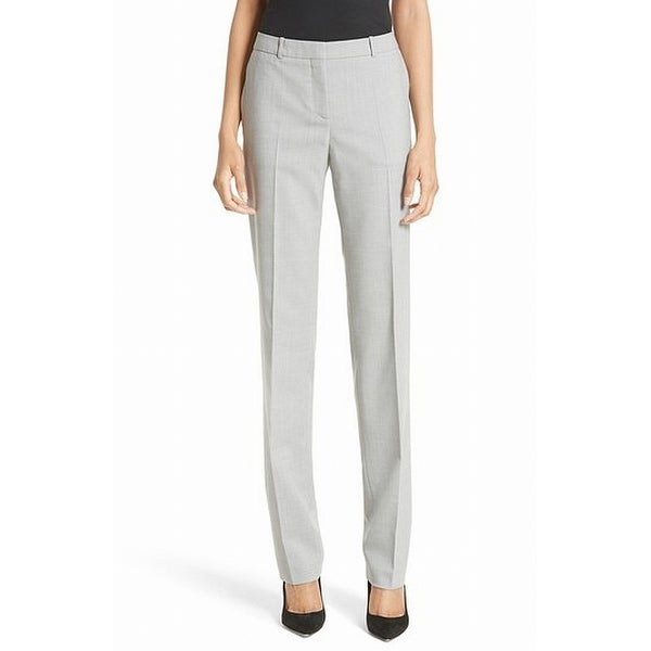 Hugo Boss Gray Career Women's Size 8 Dress Pants Wool Stretch