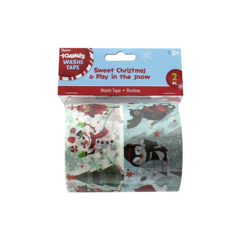 Darice Washi Tape Sweet Christmas/ Play in TheSnow