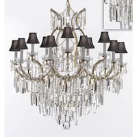 Maria Theresa Chandelier Crystal Lighting Chandeliers w/Optical Quality Fringe Prisms - Gold