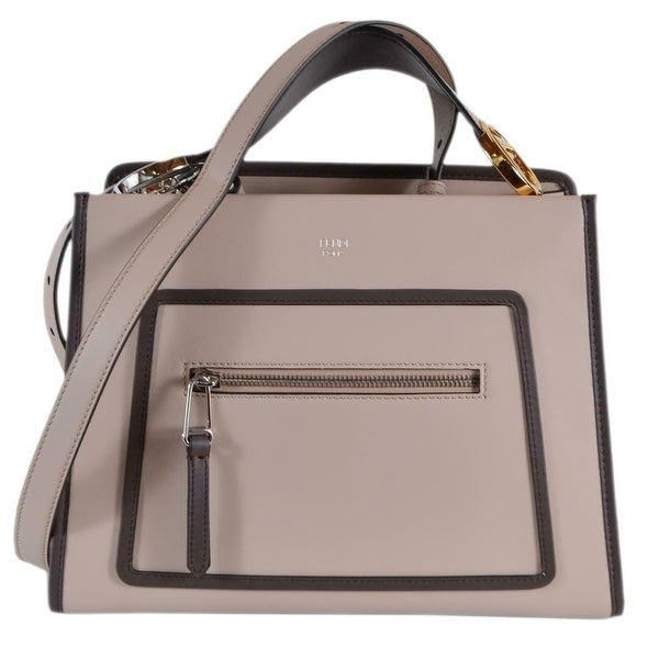 3e10aa911ca3 Fendi 8BH344 Soap Beige Smooth Calf Leather Runaway 2-Way Purse Tote Handbag  - Pink