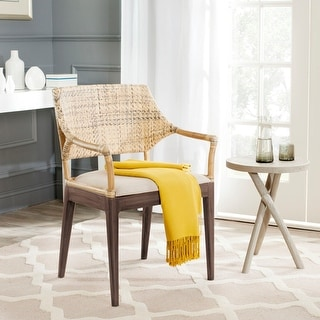 "Link to Safavieh Carlo Honey Arm Chair - 23"" x 22.5"" x 34"" Similar Items in Dining Room & Bar Furniture"