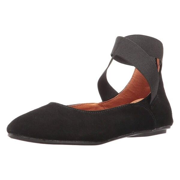 49e06677e60e Shop Women s Arabesque Strappy Ballet Flats - Zip Back - Suede - On ...