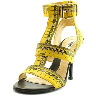 Moschino Measure Open Toe Leather Sandals